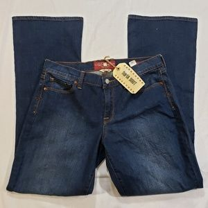 Lucky Brand Sofia Boot blue Jean's 10/30 reg